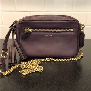 Coach Crossbody Deep Plum Eggplant Purse